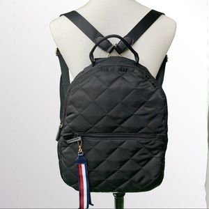 NWT Tommy Hilfiger Satin Quilted Backpack